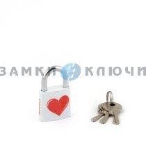 Замок висячий Apecs PD-23-32-LOVE-Blister (Heart)